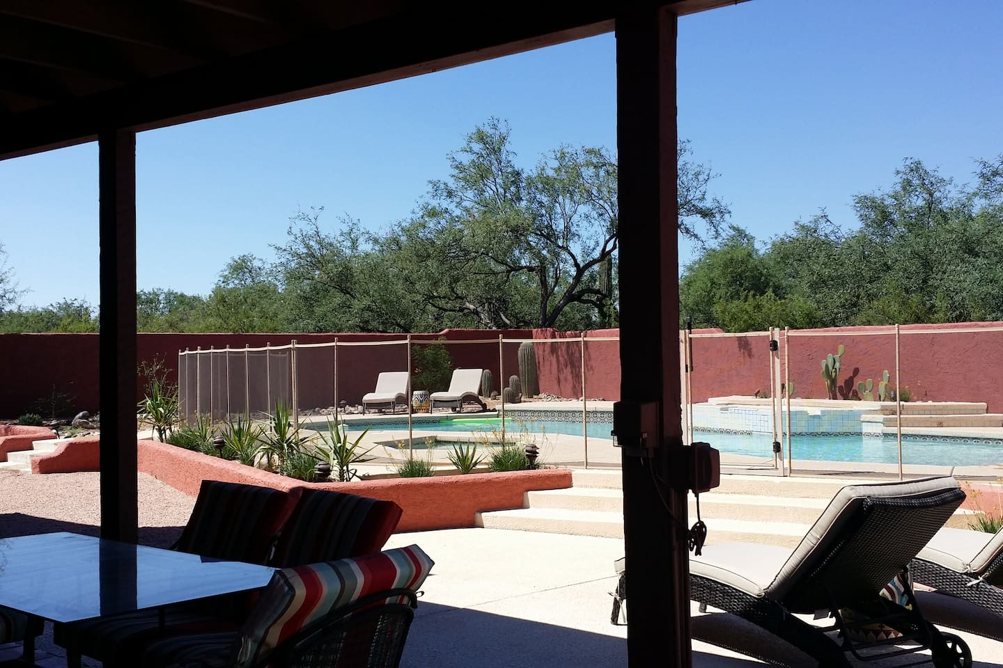 You can enjoy the back yard and stay in the shade if you'd like!