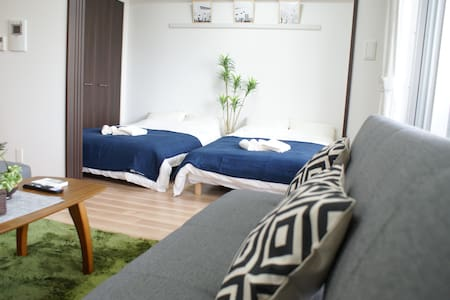 1LDK-Spacious at Namba Osaka 4mins to Sta+WIFI,TV - Appartement