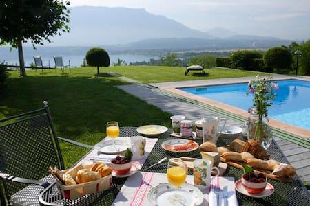 Les balcons du Lac (chambre verte) - Oda + Kahvaltı