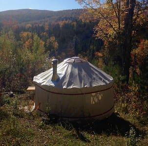 4 Season Lower Yurt Stay,  on VT Small Farm - Iurta