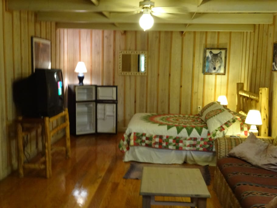 Room 3 - a 2 room suite with refrigerator, coffee pot and microwave. Queen bed and queen hide-a-bed.