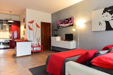 NICE FLAT + PRIV. PARKING/FREE BIKE/ (CLOSE METRO) - Ostia - Haus