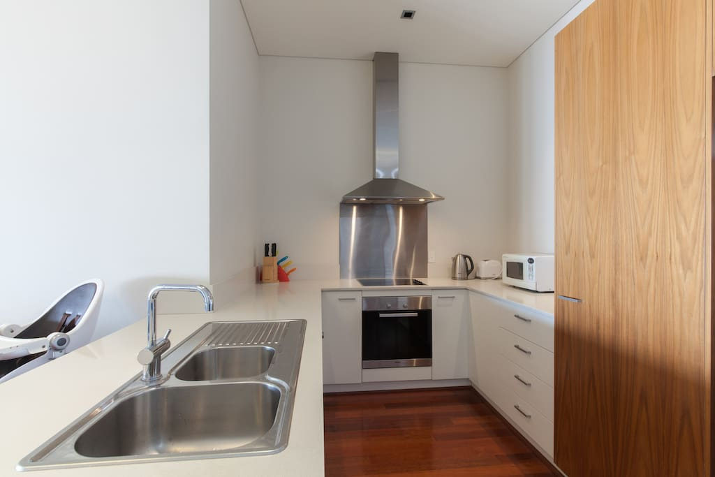 Fully equipped kitchen if you feel like cooking.