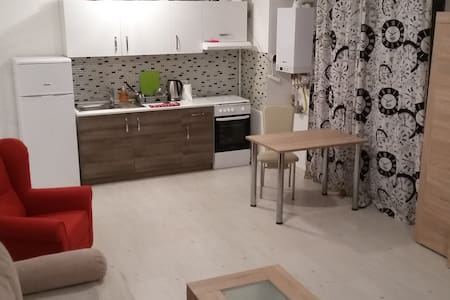 airport apartments bedroom and living room - Otopeni