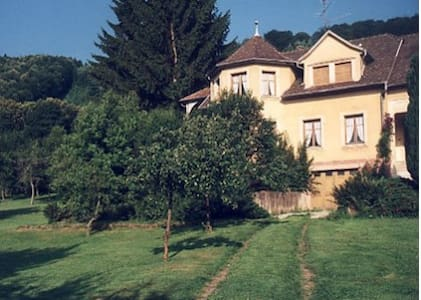 Location au calme, grand jardin, bordure de forêt - Mollkirch