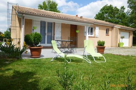 Cosy Home T4 entre GERS et TOULOUSE -Grand jardin - Hus