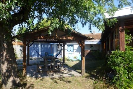 Petite maison, jardin et pergola, Le Porge bourg - Dom