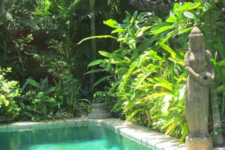 Charming place with tropical garden