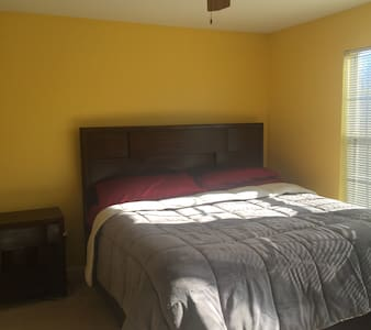 King Bed with private bath and walk in closet - Owings Mills