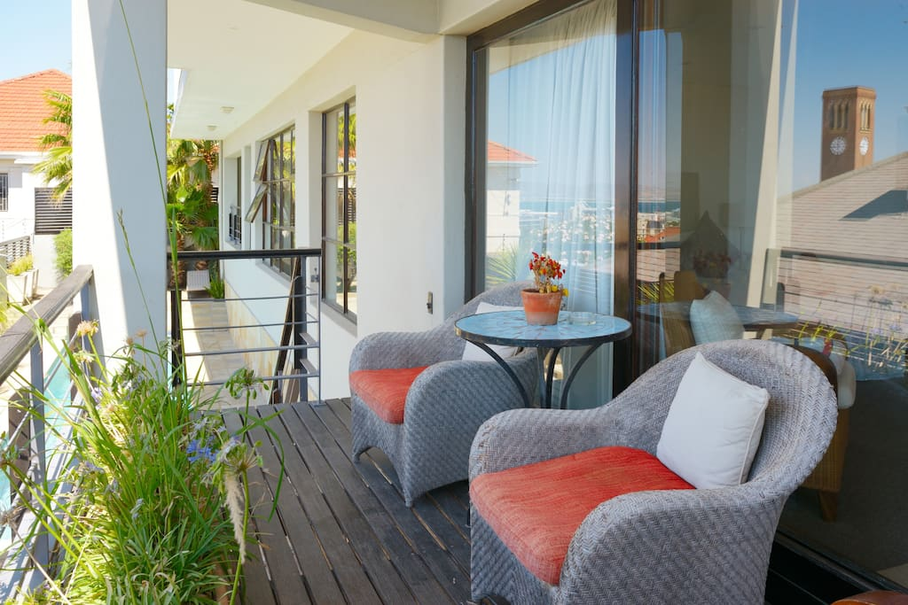 Your own private balcony with table and chairs to enjoy our super summers!