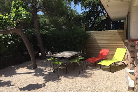 Appartement+jardin dans maison à 300 m de la mer - Saint-Cyprien