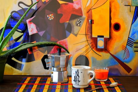 Stanza artistica Kandinsky a due passi dal centro - Apartamento