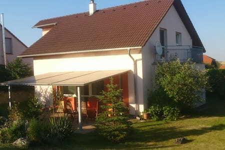 House with a garden pool near Prague airport for 8 - House