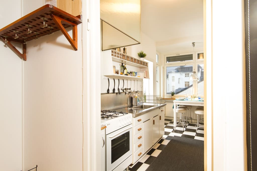 Kitchen from the hall