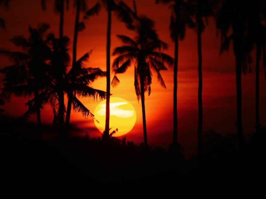 see the sunrise from the veranda