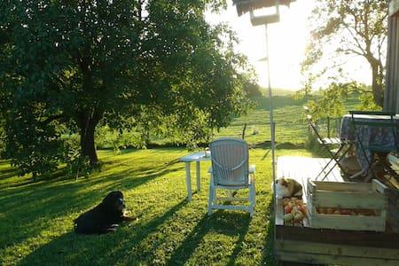 Maison en bois, à la campagne, coeur vignoble - Sellières - Hus