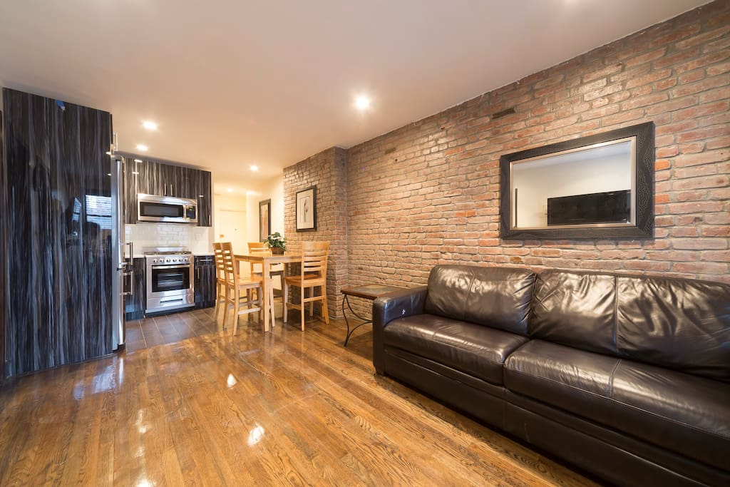 Spacious Living Room, and Open Kitchen