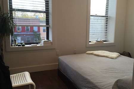 Hi!  My place is available between Dec 19th - Jan 2nd. It's 1 bedroom in a 4 bedroom apartment and the room is separated from the other rooms. Queen size bed for 2. Easily located in Brooklyn near Prospect Park and just 20min to downtown Manhattan.