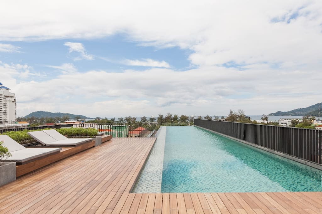 Enjoy panoramic views from the rooftop Infinity Pool