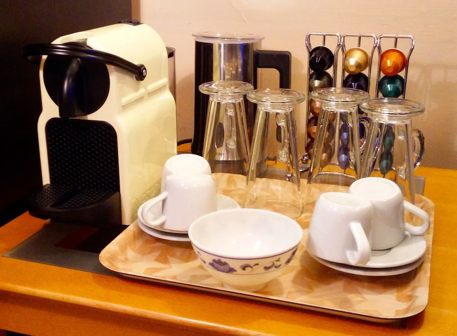 Nespresso machine - feel free to bring your favourite pod to enjoy an espresso  / cappuchino / latte during your stay (however some generic pods are my gift to you!).  I also have a cafetiere for a larger cup of coffee!