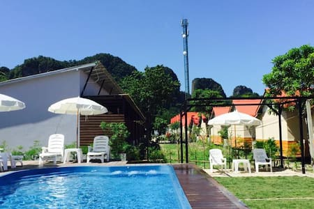Double Bed + Patio & Sunbed + Pool - Ko Phi Phi Don