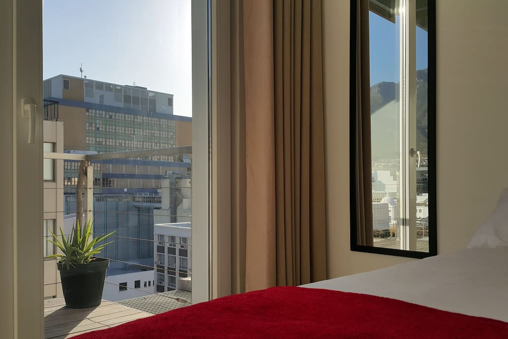 Direct access to balcony with view towards Signal Hill and Table Mountain