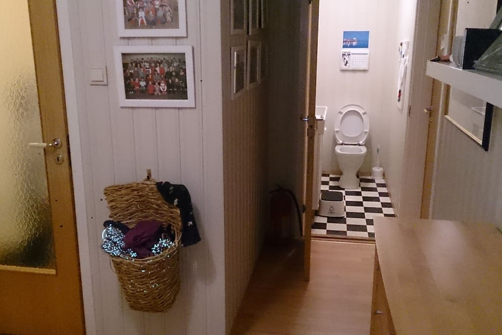 Entrance and toilet