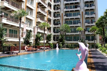 Swimming pool view apartment - Wohnung