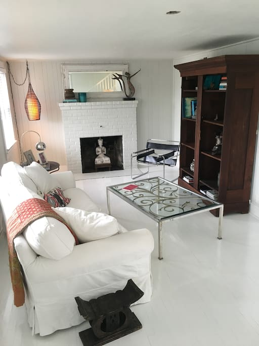 Perfect for curling up with a book or relaxing after a long day at the beach.  Be careful... the sofa will hold you captive!  It's that comfortable.
