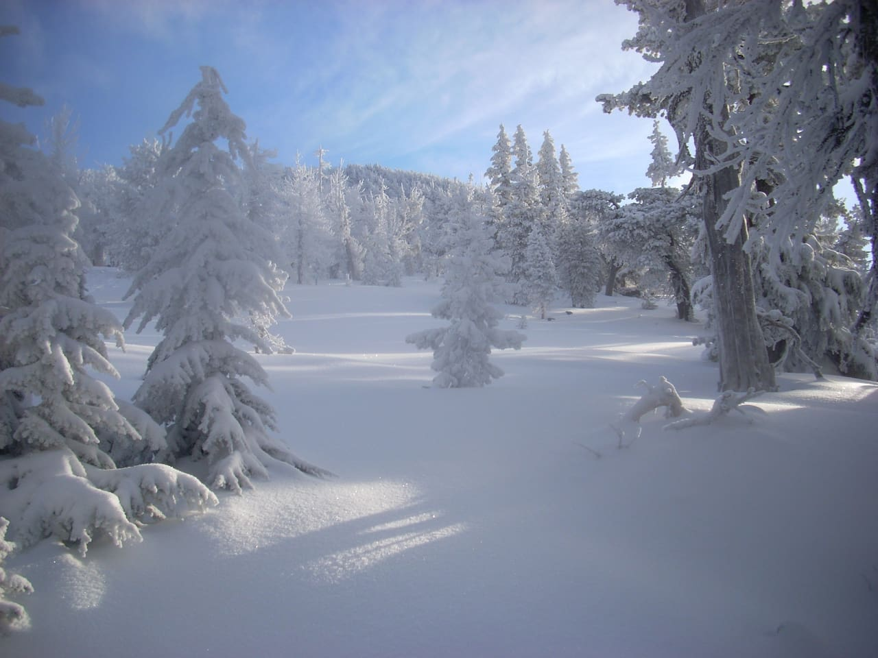 Snow accumulation reported on Mt. Bachelor today (Nov. 3). This is a picture from 2011, so you know what might  happen :)