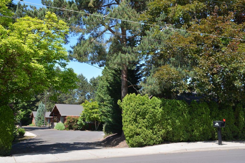Property entrance off of Roxbury Ave