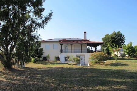 Quiet spacious villa near the beach - Epanomi