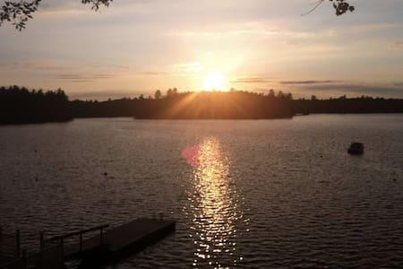 Large Waterfront Sebago Lake Camp - House