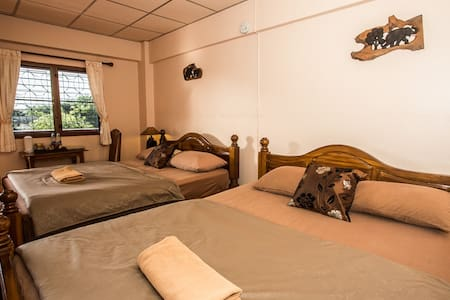Comfy Room with 2 beds @ Promtong Mansion - Bed & Breakfast