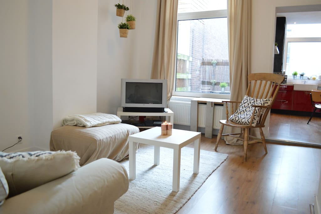 The living room is very cosy and has great comfortable seats