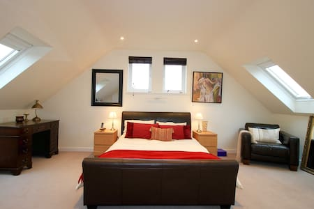 Luxury bedroom, en-suite, King size bed, in Oxford - Oxford - Apartment