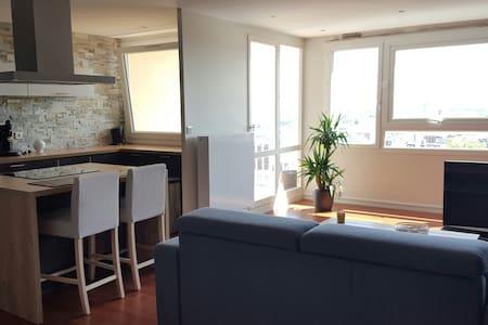Vue dégagée depuis appart moderne - Le Havre - Apartment