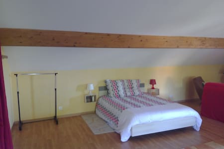 Large private bedroom (53m2) for 4 to 5 people - Le Creusot - Apartment