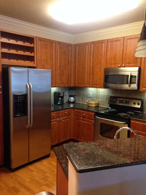 Plenty of Cabinet space in this kitchen with stainless steel appliances