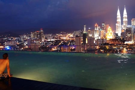 Rooftop Infinity Pool View, Bliss! - Kuala Lumpur - Apartment