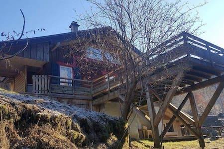 Chalet de montagne au bord d'un torrent - Mont-Saxonnex - Huis