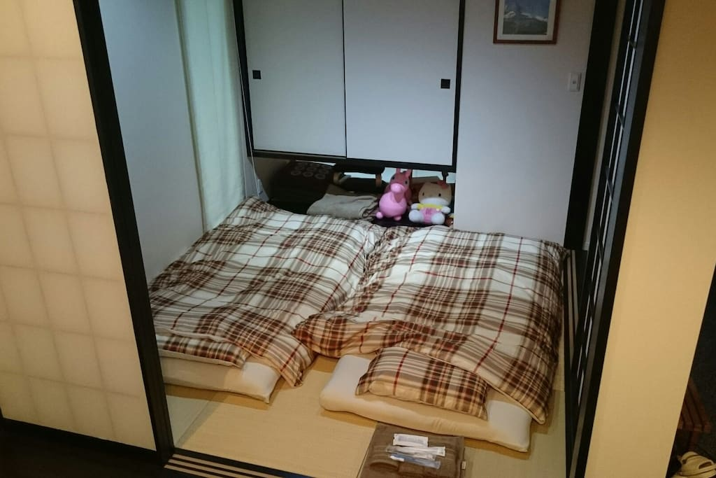 Two bed in tatami room 寝室になります