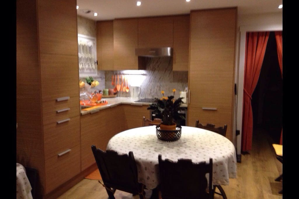 Newly renovated open kitchen & dining area