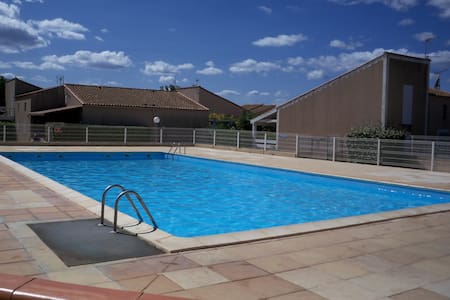 Villa 150mplage Résidene sécurisée piscine parking - Villa
