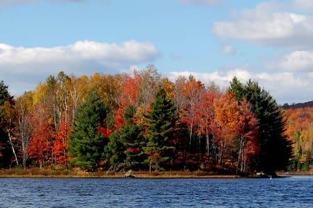 Chalet ensoleillé au bord du lac - Nominingue