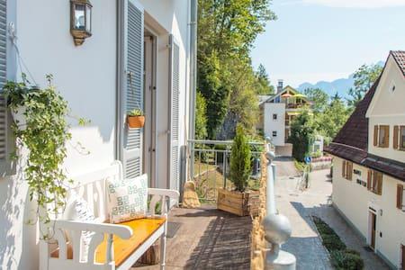 Mountain panorama balcony view - Füssen - Apartment