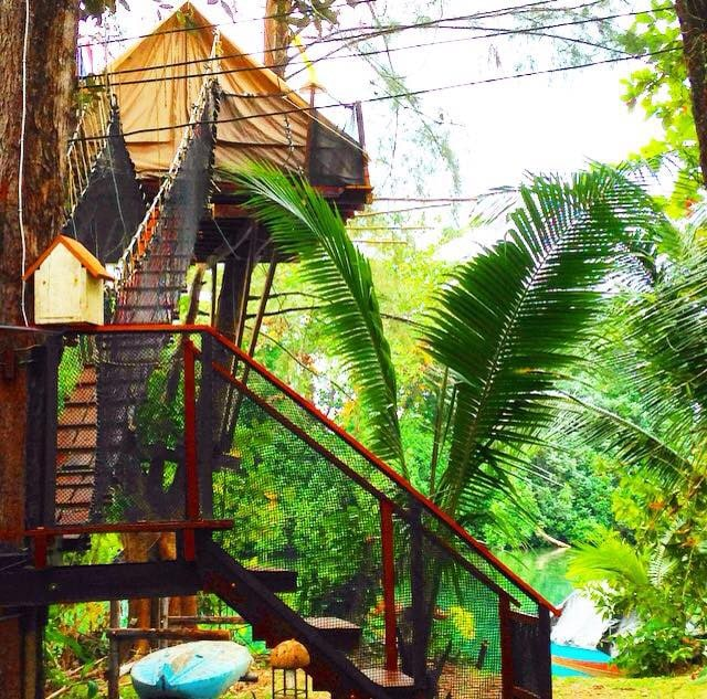 Magical Tree House, Airbnb Rent a Tree Hut for a Night Located in Thailand Romantic Getaway