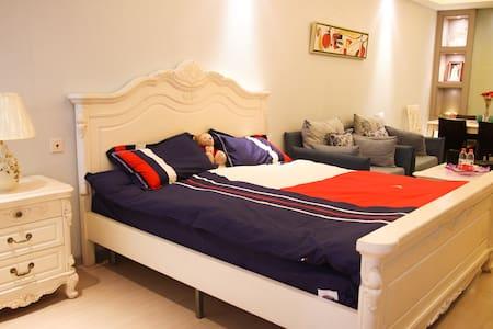 糖果家 奥体中心河西CBD地铁口的高档公寓 近博览中心 - Nanjing - Apartment