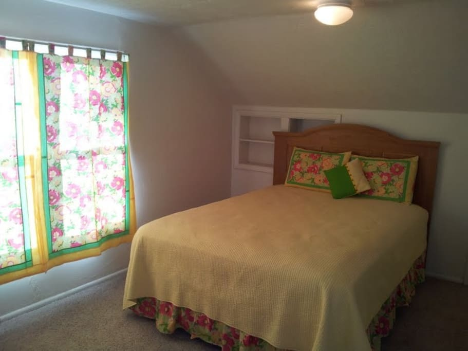 One of the 2 upstairs bedrooms