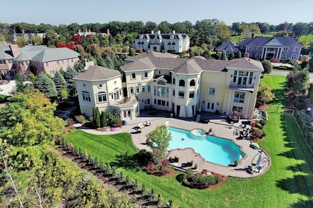 12,000 Sq. Ft Mansion 15 to NYC 25 ft ceilings - Cresskill
